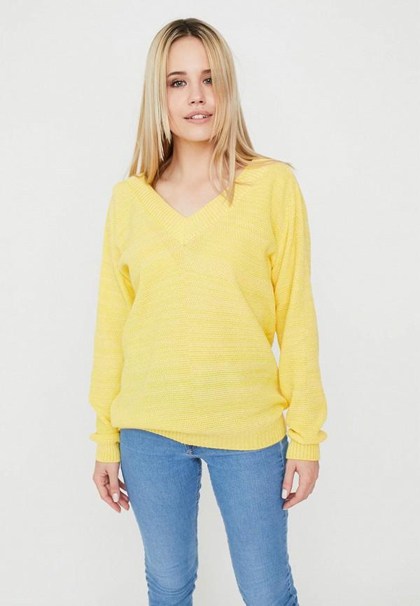 женский пуловер прованс, желтый