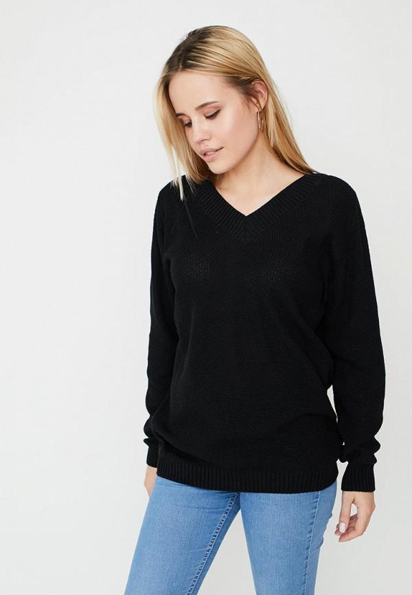 женский пуловер прованс, черный