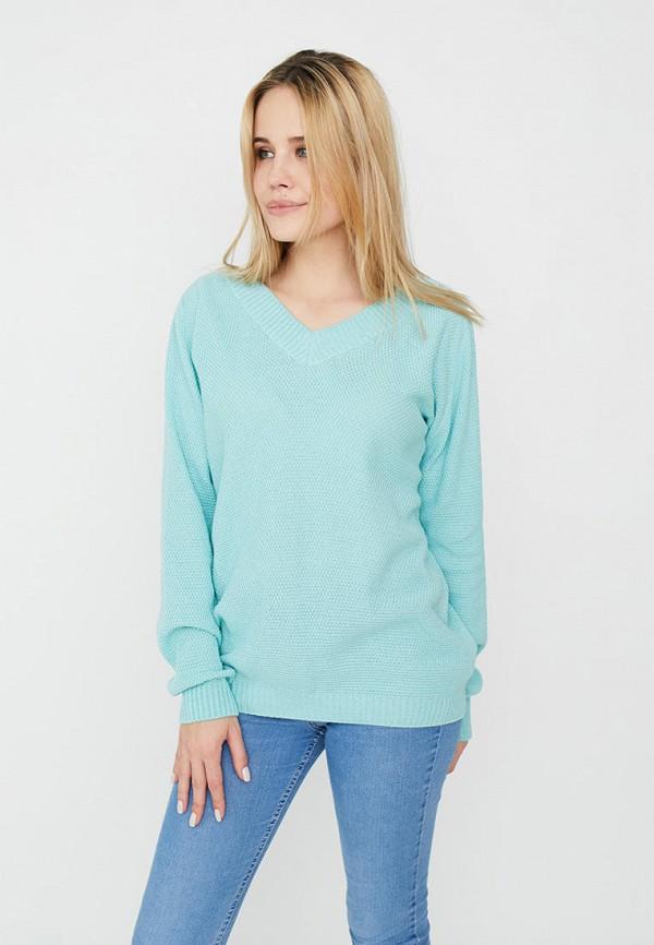 женский пуловер прованс, голубой