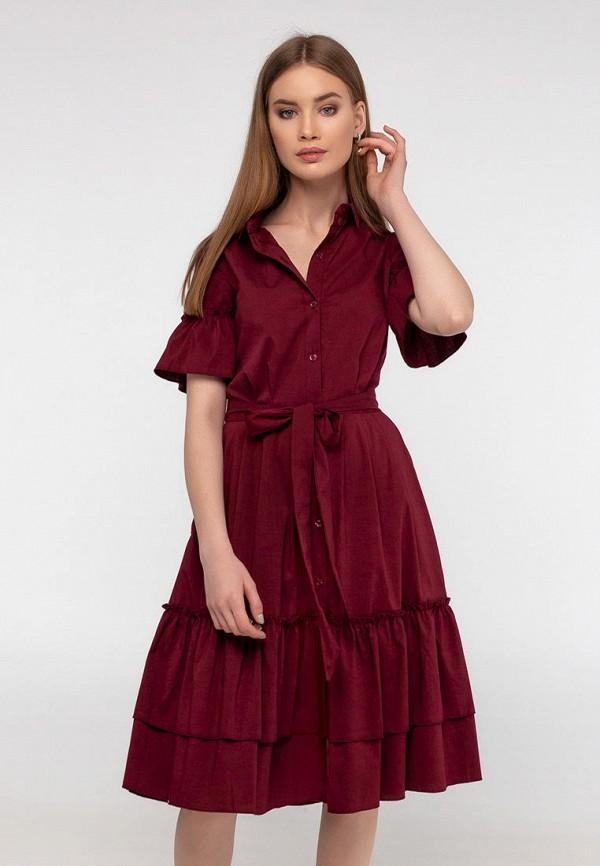 женское повседневные платье viravi wear, бордовое
