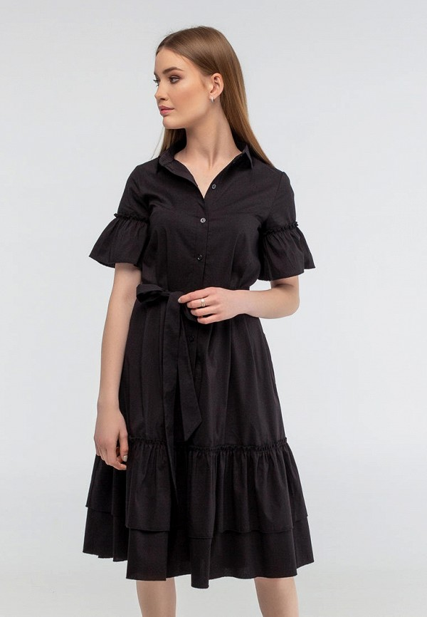 женское повседневные платье viravi wear, черное