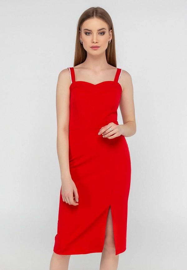 женское платье-футляр viravi wear, красное