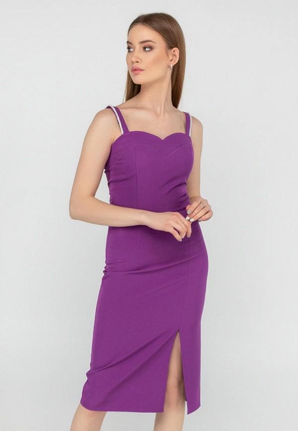 женское платье-футляр viravi wear, фиолетовое