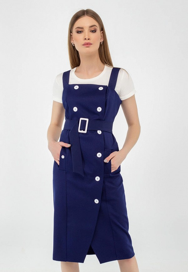 женское платье-футляр viravi wear, синее