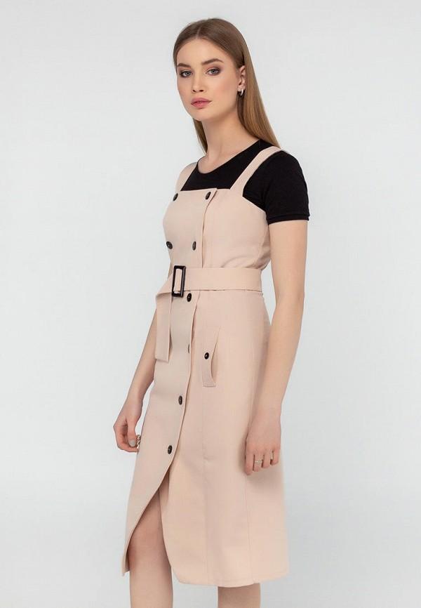 женское платье-футляр viravi wear, бежевое
