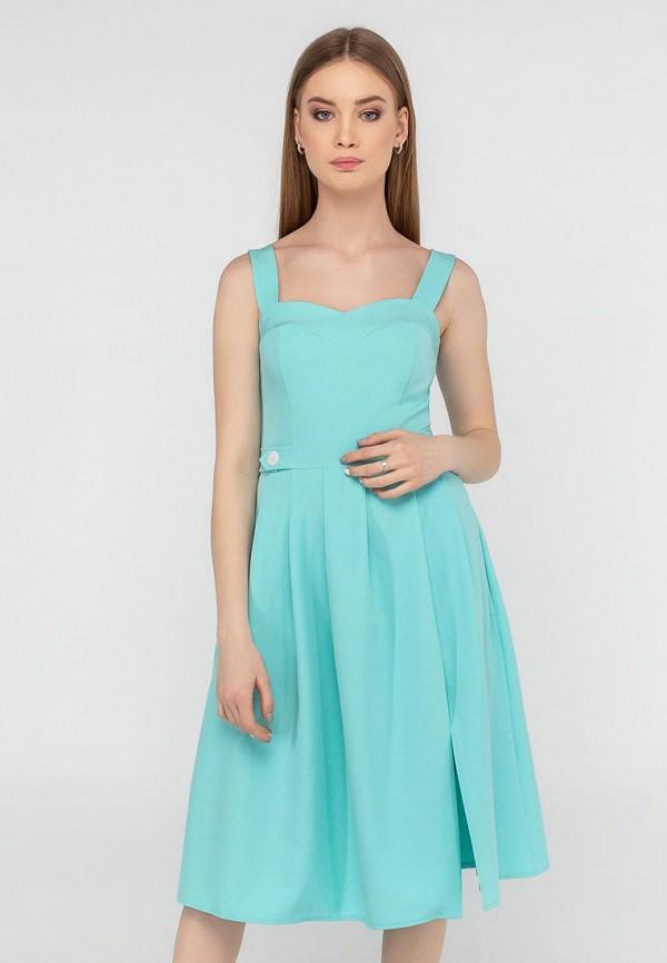 женское повседневные платье viravi wear, бирюзовое