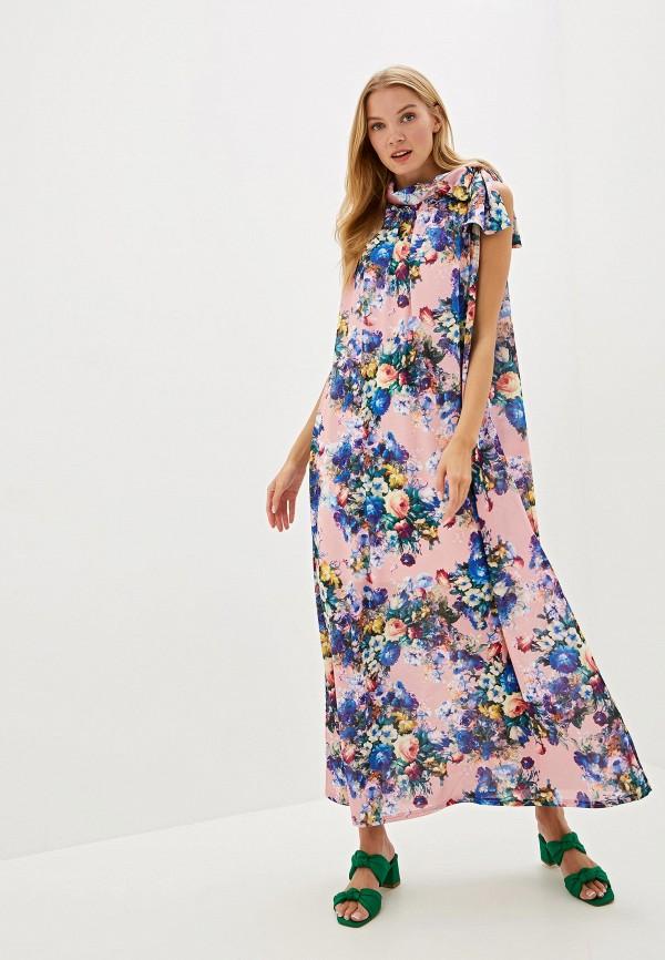 женское платье adzhedo, розовое