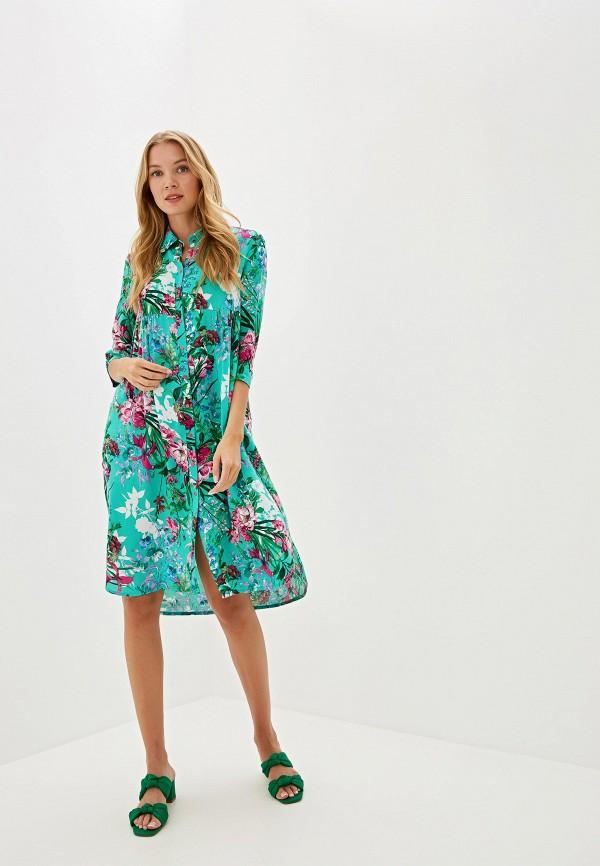 женское платье adzhedo, зеленое