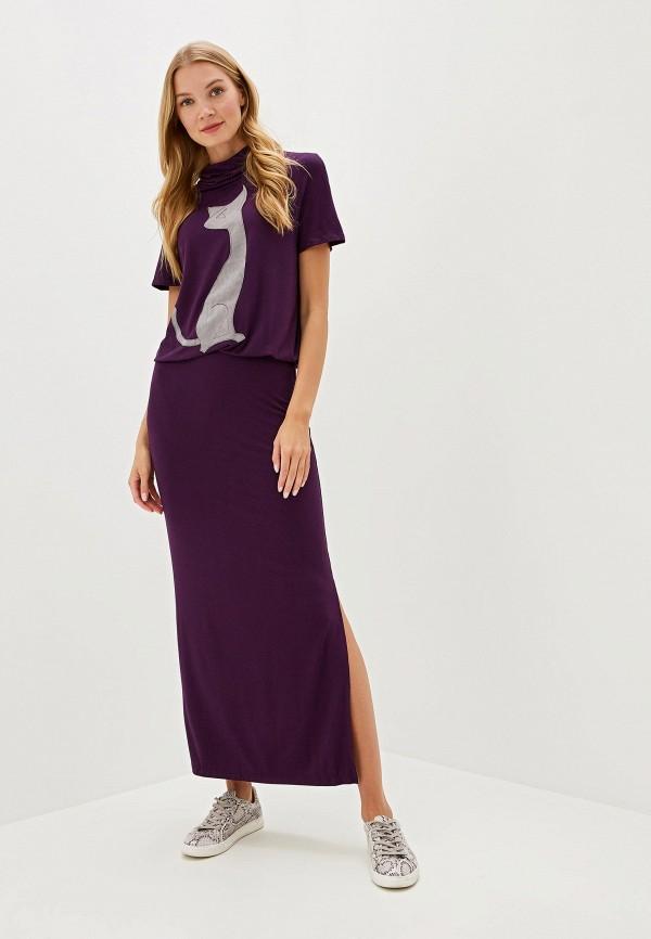 женское платье adzhedo, фиолетовое
