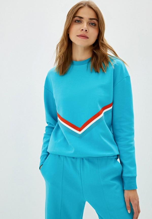 женский свитшот urban tiger, голубой