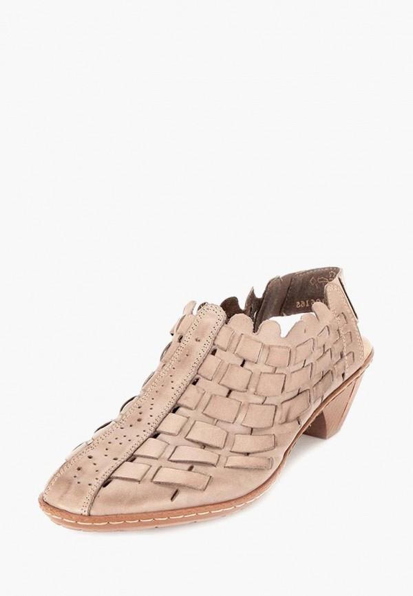 женские туфли rieker, бежевые