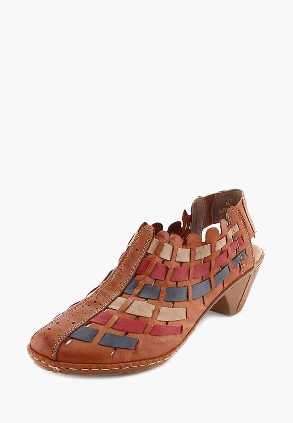 женские туфли rieker, коричневые