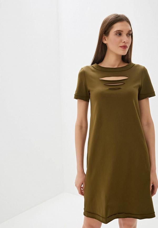 Фото - Женское платье Tantino цвета хаки