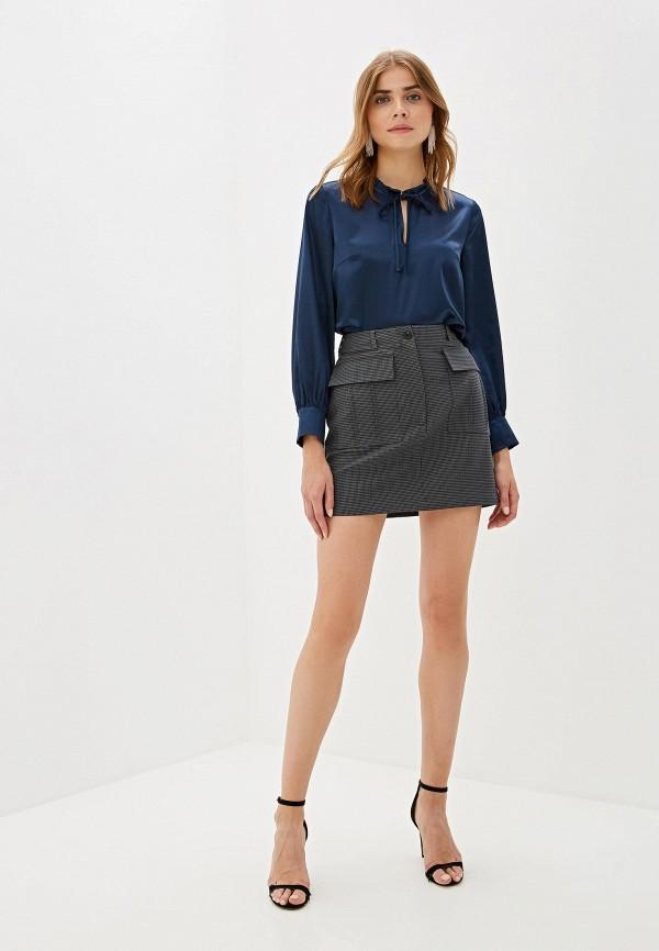 Фото 2 - Женскую блузку Aylin Stories синего цвета