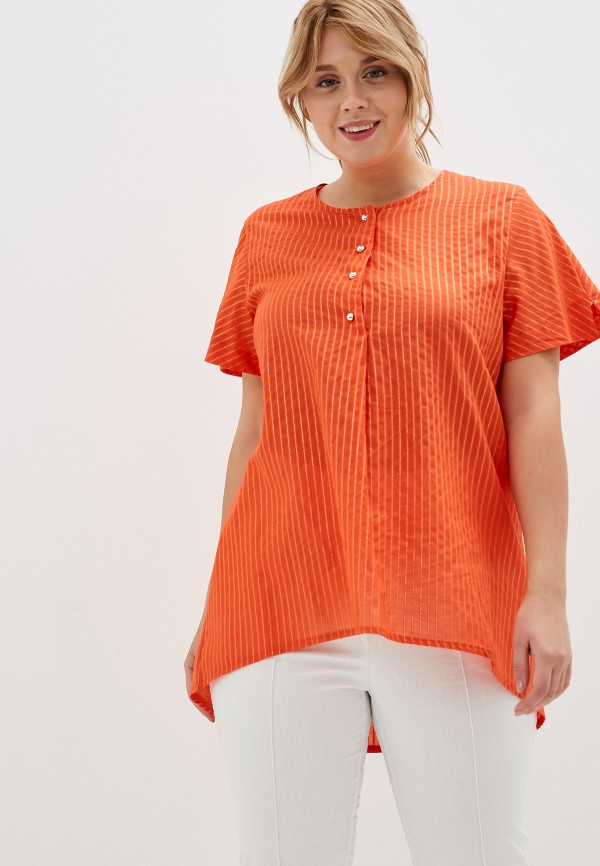 женская блузка olsi, оранжевая