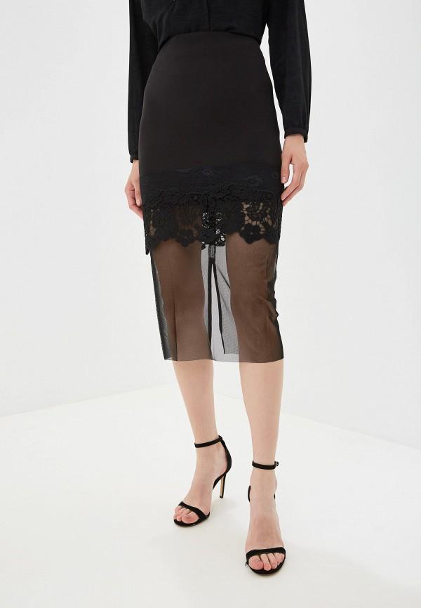 женская юбка panda, черная