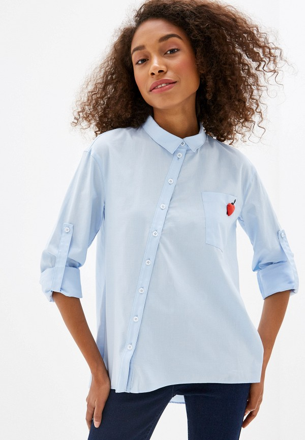 женская блузка prio, голубая