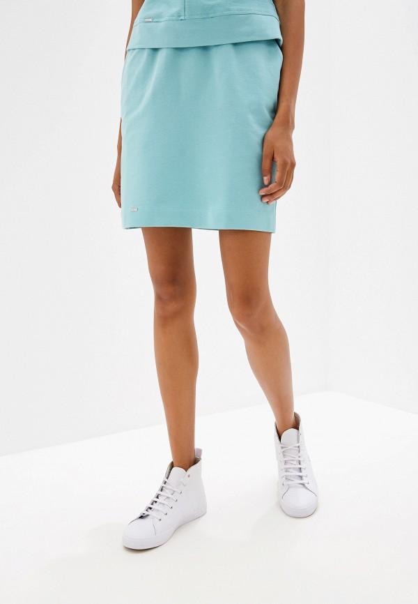 женская юбка prio, бирюзовая