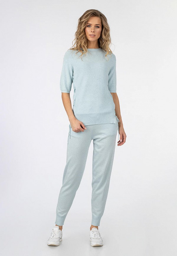 женский костюм moda di lusso, голубой