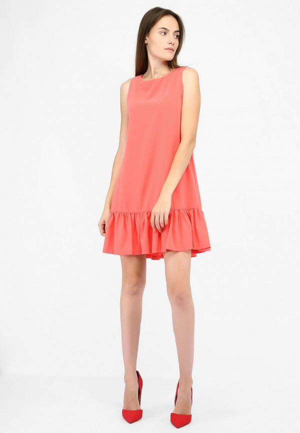 Фото 2 - Женское платье SFN кораллового цвета