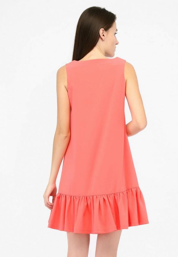 Фото 3 - Женское платье SFN кораллового цвета