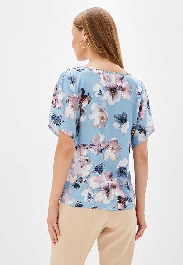 Фото 3 - Женскую блузку Анна Голицына голубого цвета