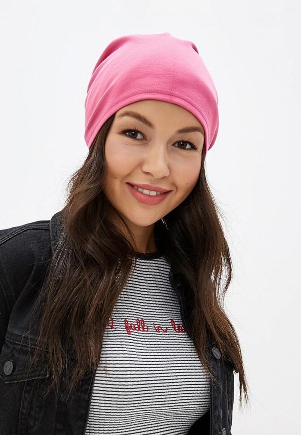 Фото 3 - Женскую шапку Malaeva розового цвета