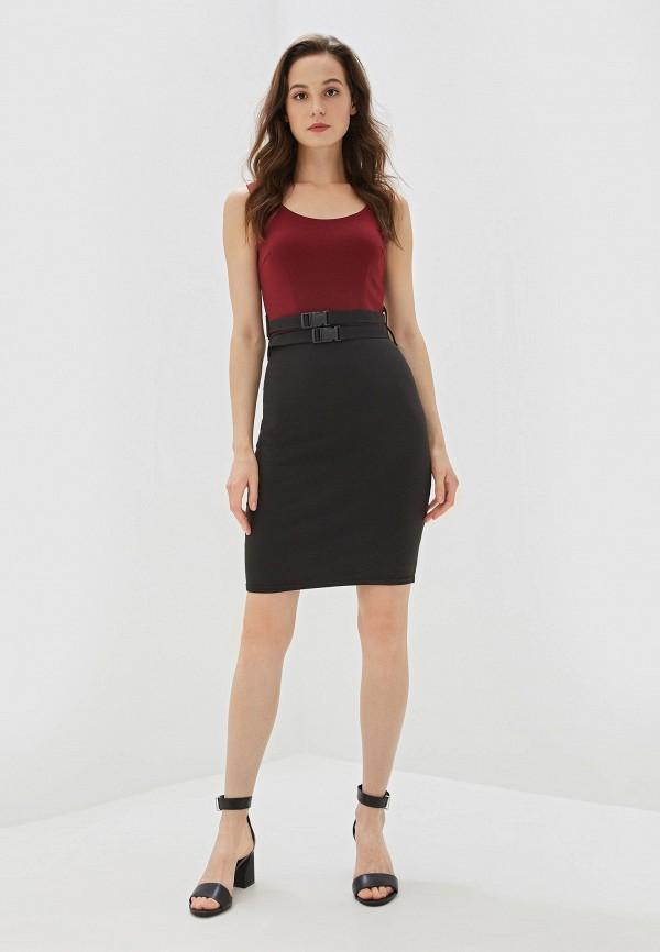 Фото 2 - Женское платье Malaeva бордового цвета