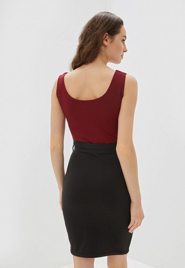 Фото 3 - Женское платье Malaeva бордового цвета