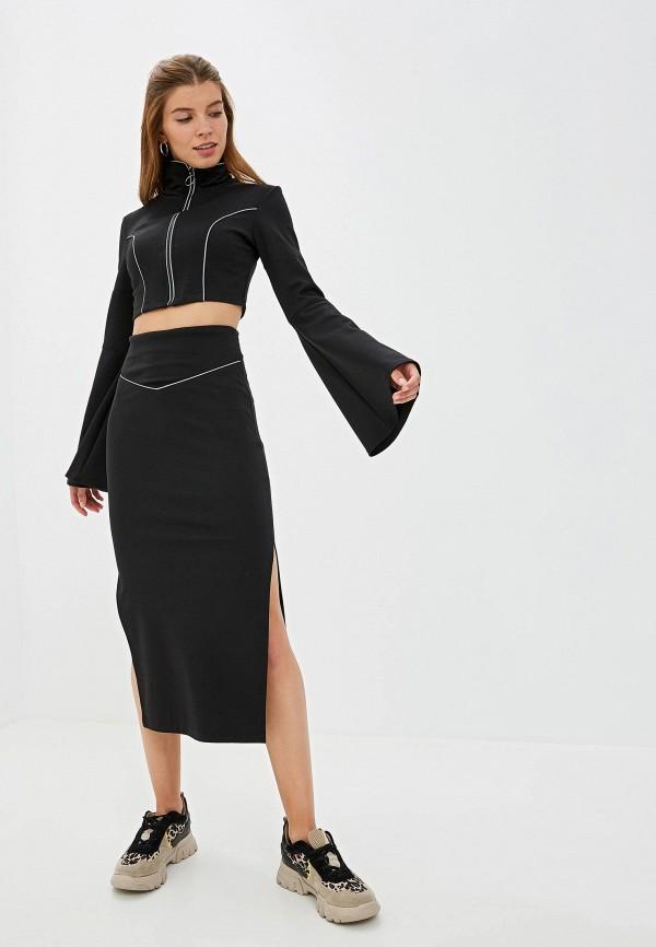 Фото - Женский костюм Malaeva черного цвета
