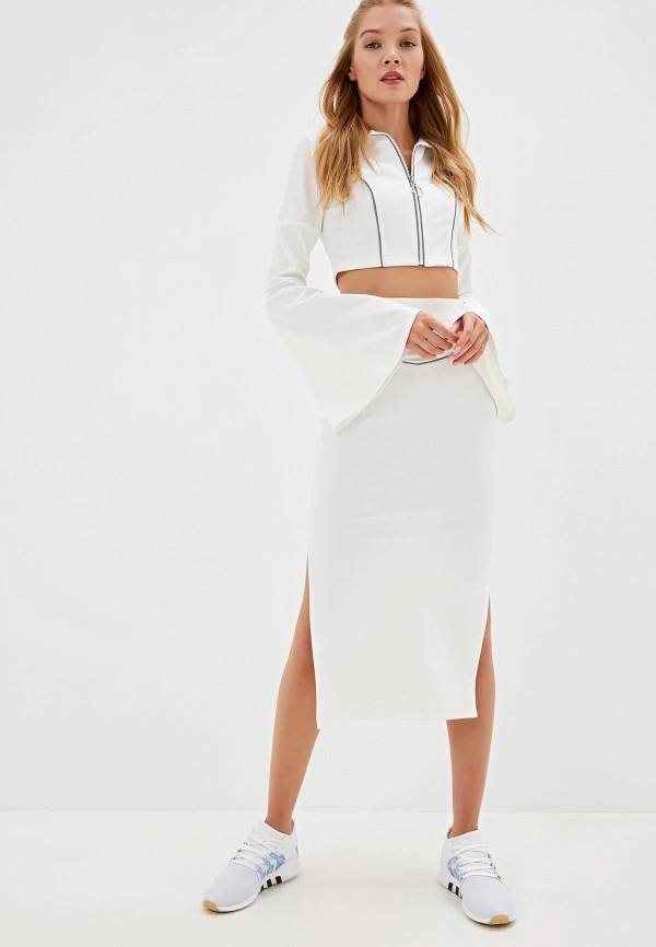 Фото - Женский костюм Malaeva белого цвета