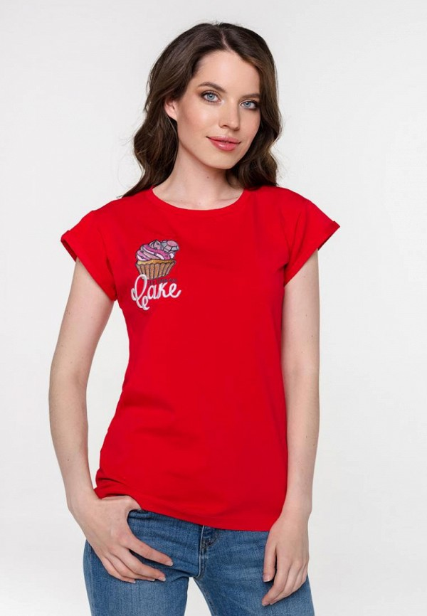 женская футболка pavesa, красная
