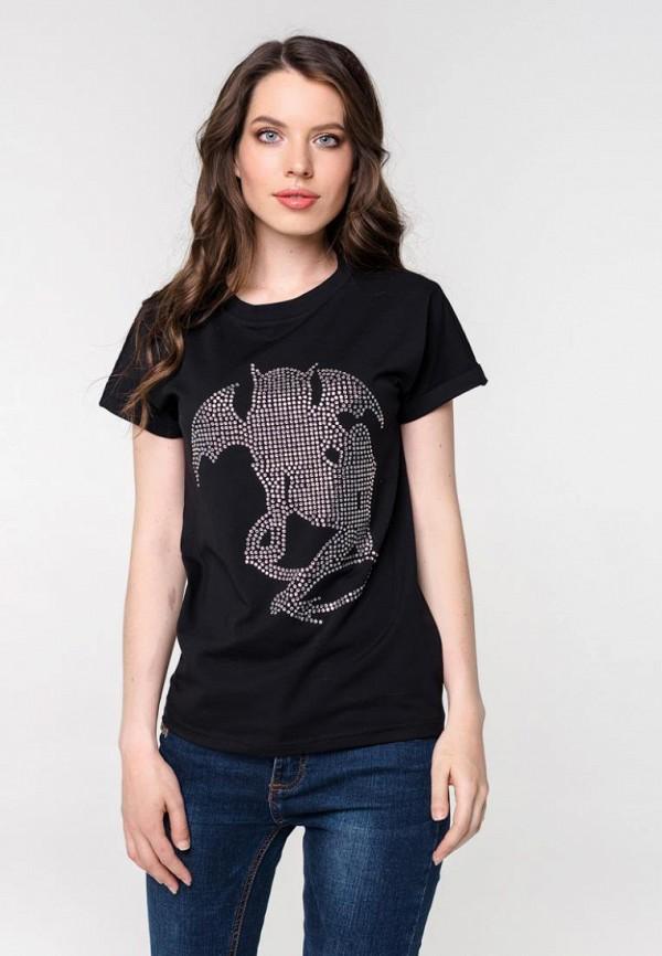женская футболка pavesa, черная