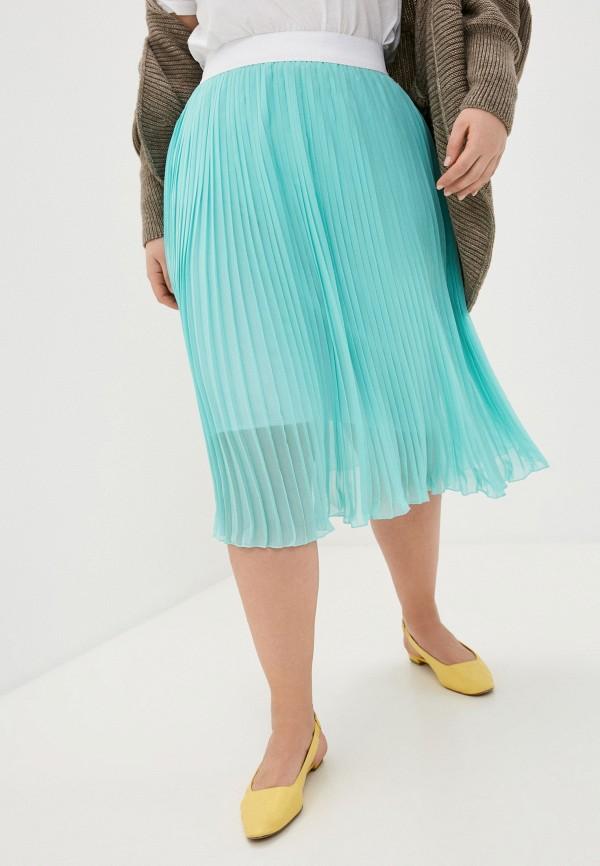 женская плиссированные юбка sparada, бирюзовая