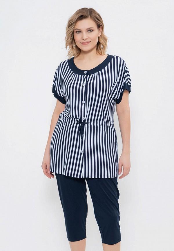 женская блузка cleo, синяя