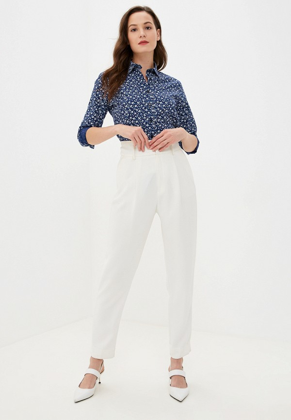 Фото 2 - Рубашку Bawer синего цвета