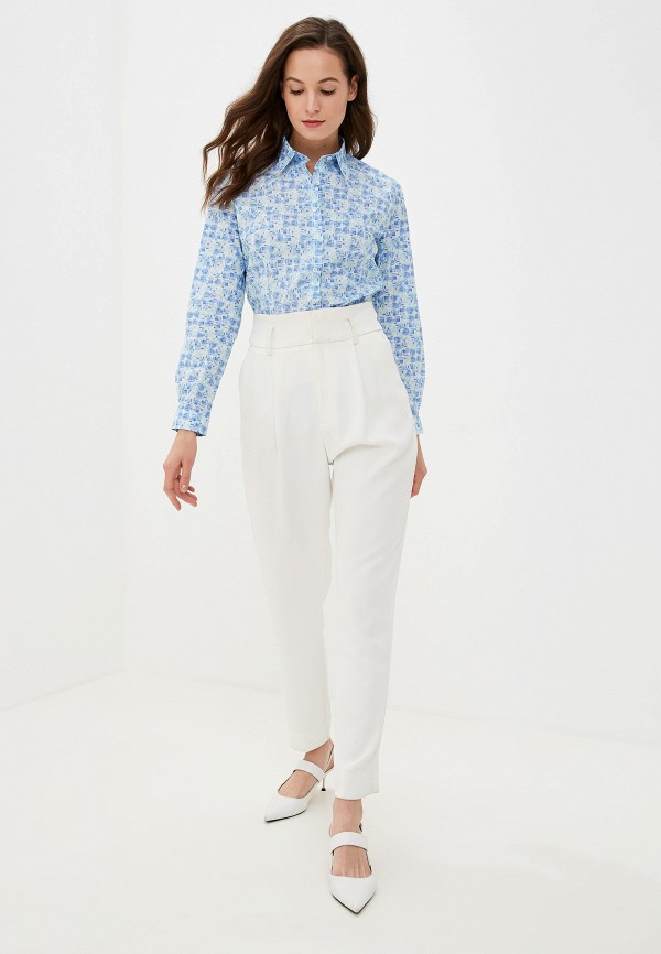 Фото 2 - Рубашку Bawer голубого цвета