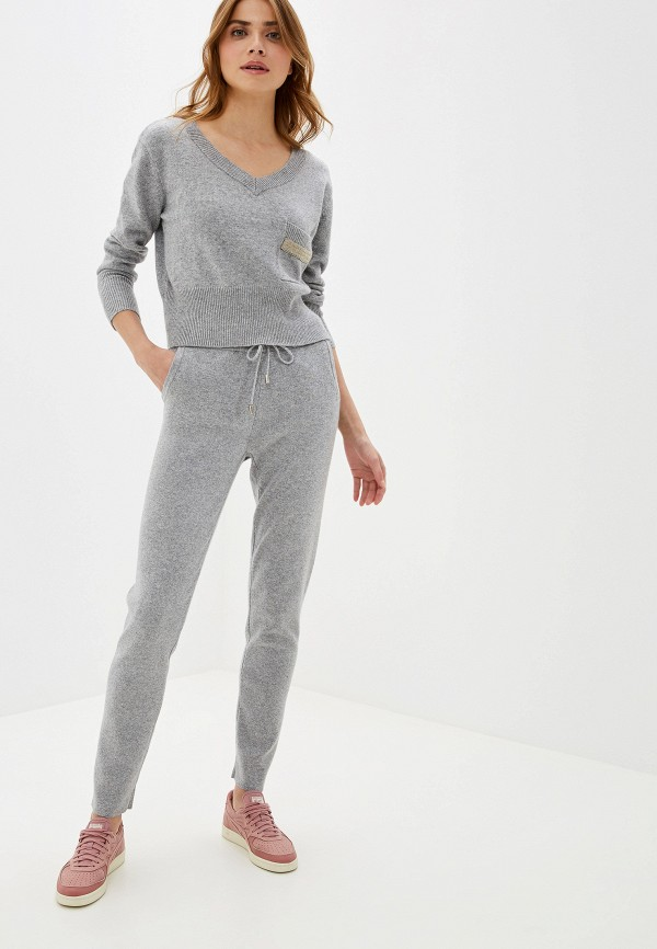 женский костюм moda di lusso, серый