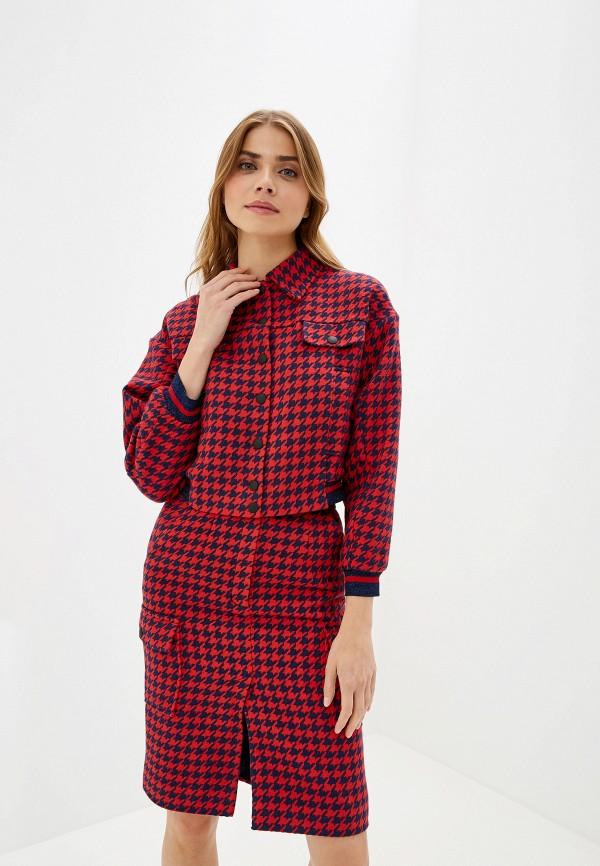 женский костюм moda di lusso, красный