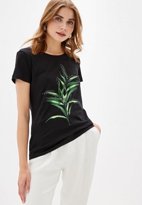 Фото - Женскую футболку Incity черного цвета