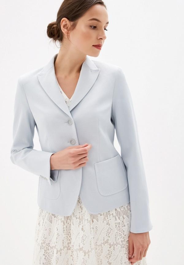 женский пиджак madeleine, голубой