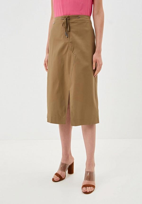 Фото - Женскую юбку EMI цвета хаки