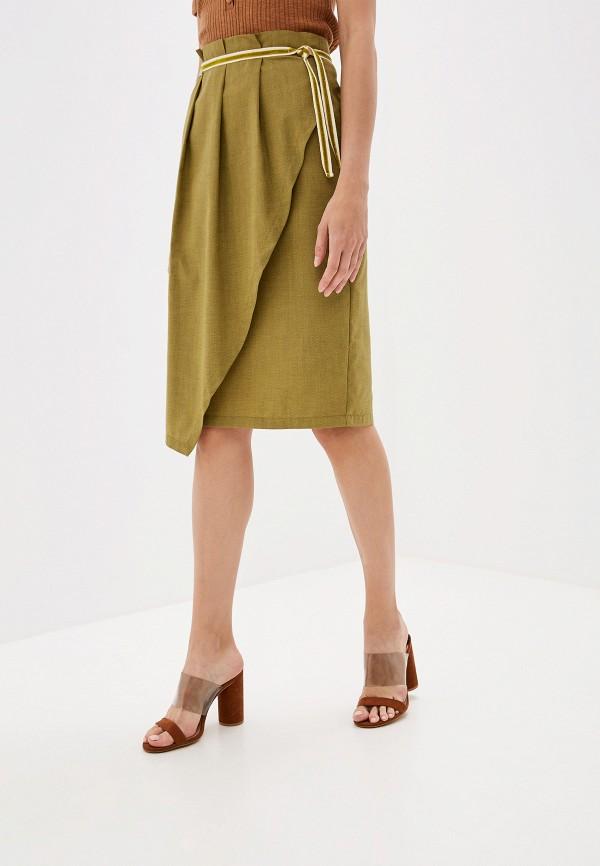 Фото - Женскую юбку EMI зеленого цвета