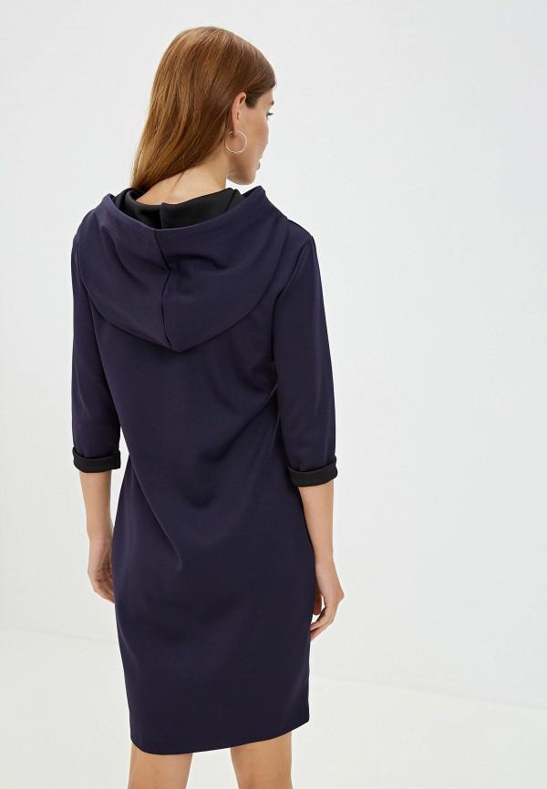 Фото 3 - Женское платье Pavesa синего цвета