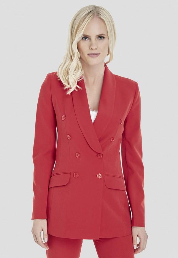 женский пиджак natali bolgar, красный