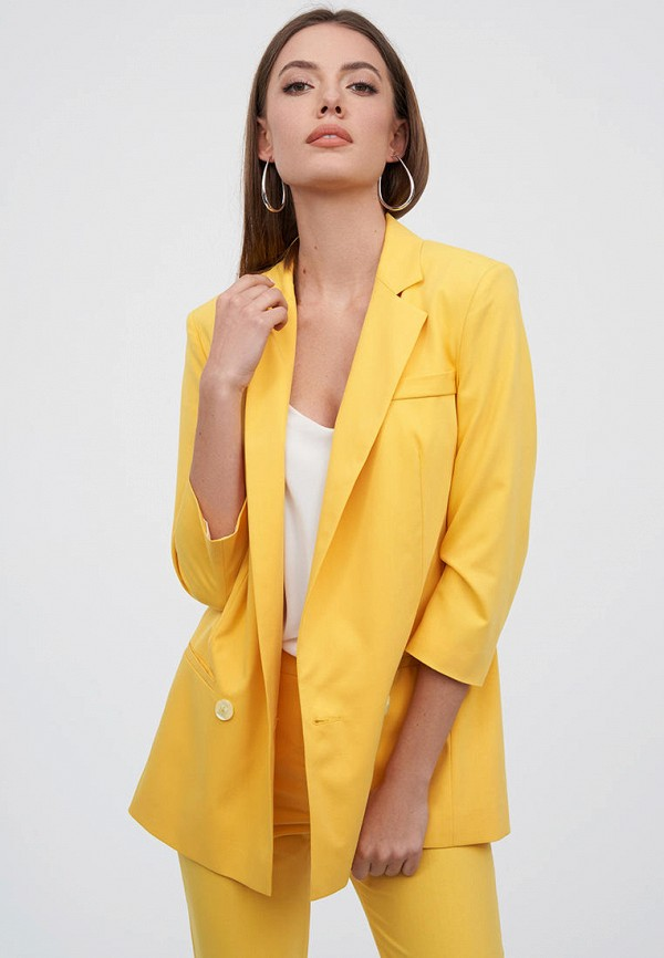 женский жакет natali bolgar, желтый