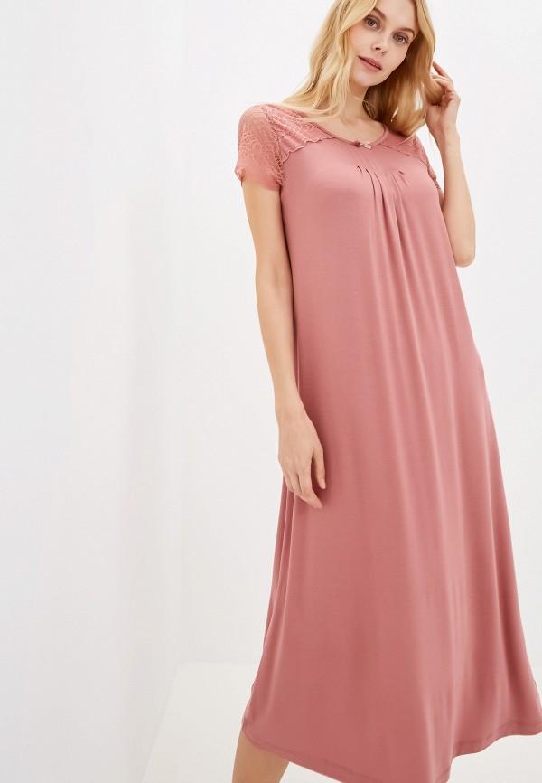 Фото 2 - Платье домашнее Home Secrets розового цвета