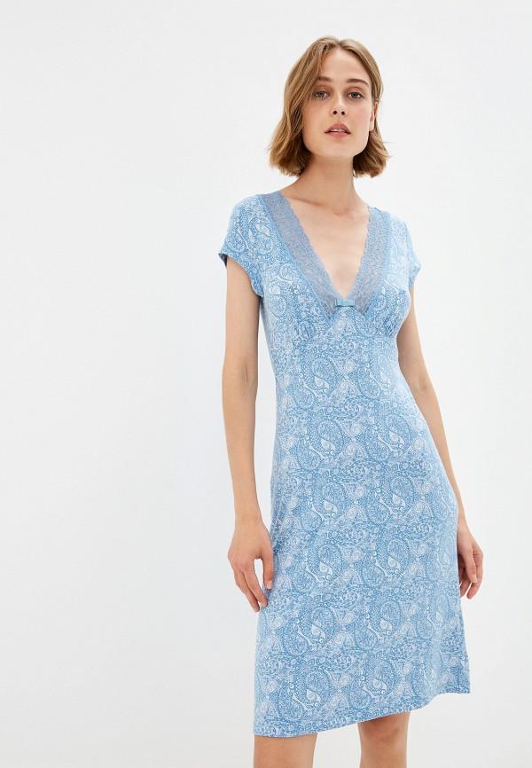 Фото - Сорочку ночная Home Secrets синего цвета