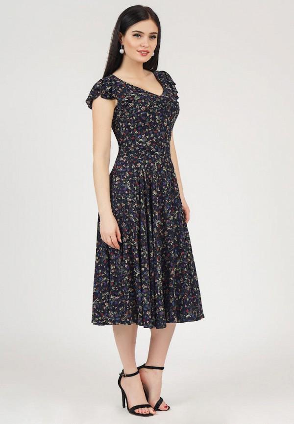 Фото 2 - Платье Grey Cat синего цвета