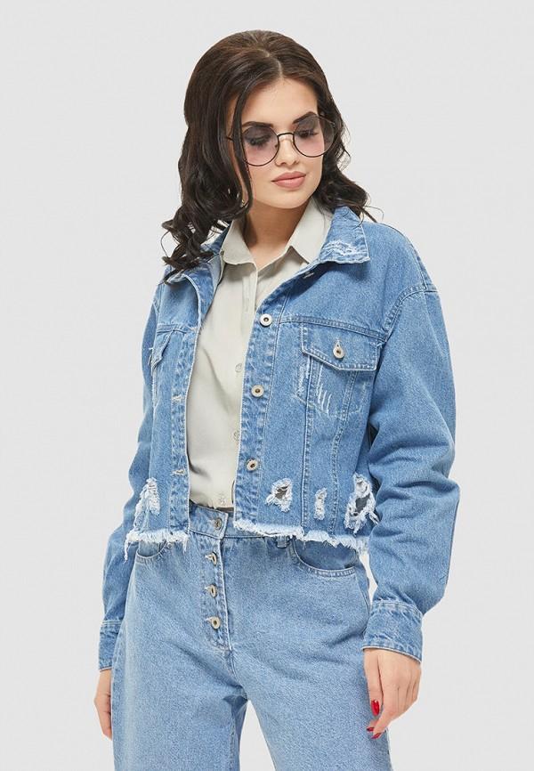 женская джинсовые куртка mila nova, голубая